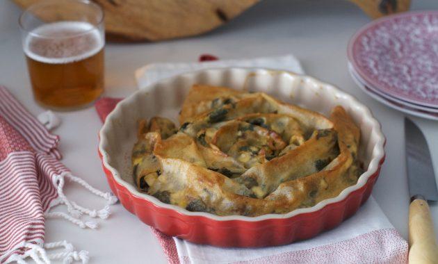 Spanakopita: pastel de espinacas. Video receta