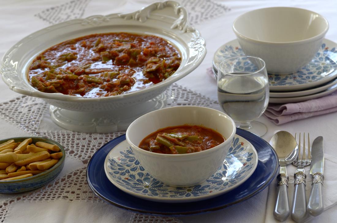 Judías verdes con tomate en olla rápida WMF. Video receta