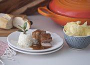 Lomo ibérico en salsa. Video receta
