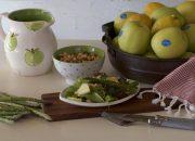 Ensalada con manzanas y espárragos. Video receta