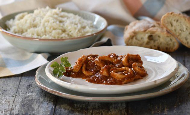 Calamares en salsa americana. Video receta