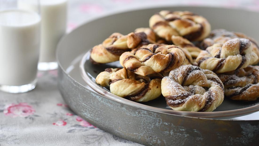 Espirales de hojaldre y Nutella. Video receta