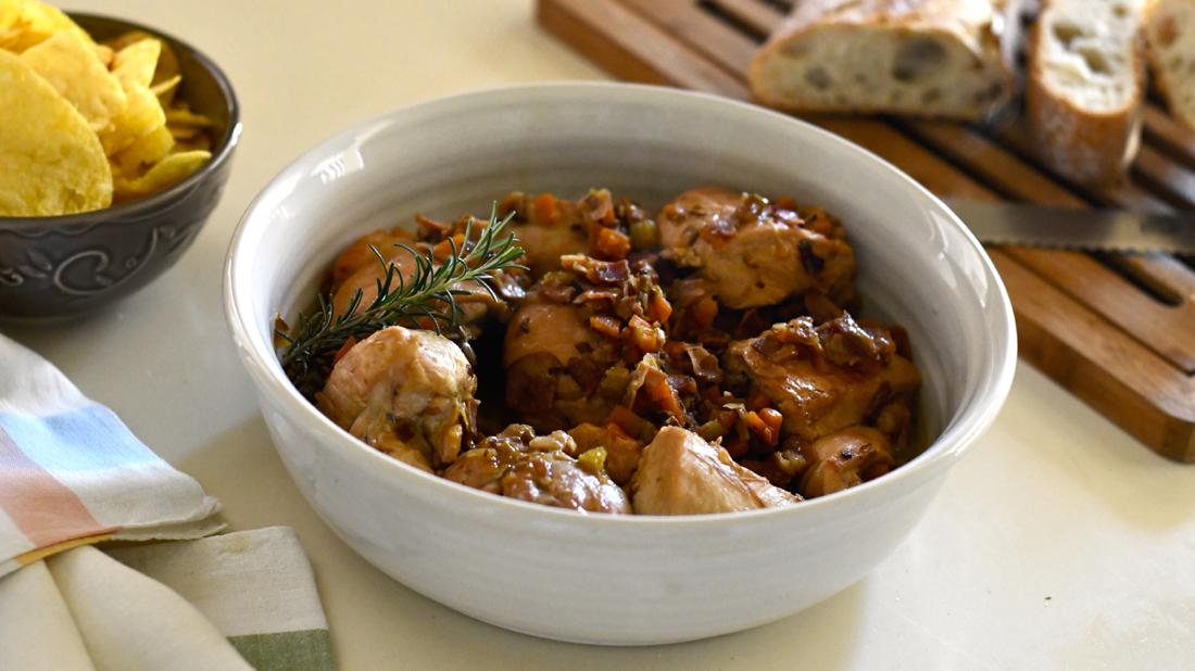 Pollo a fuego lento. Video receta