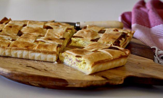 Costrada de jamón y queso. Video receta