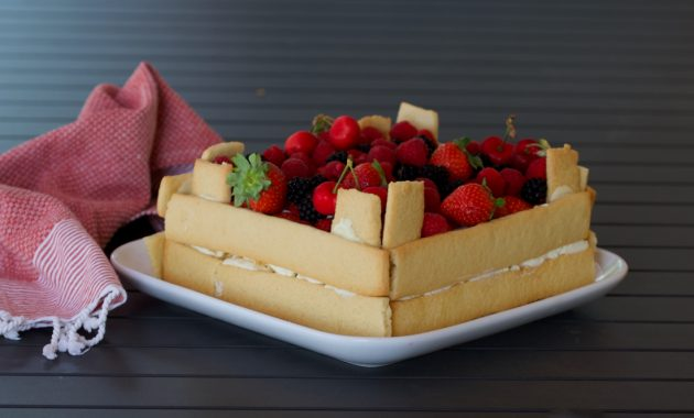Tarta caja de fruta. Video receta